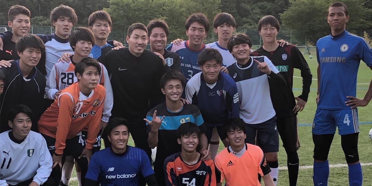 ワールドカップ日本代表の昌子源氏が来学されました